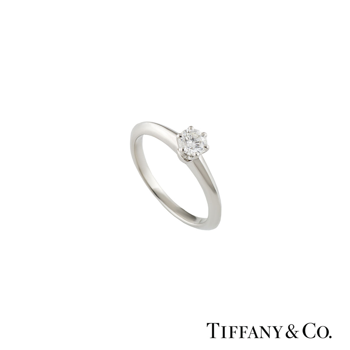 Tiffany & Co. Platinum Diamond Setting Band Ring 0.22ct E/VS1